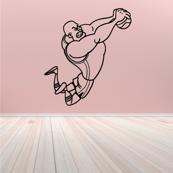 Basketball Cartoon Player Dunking Decal