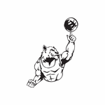 Basketball Wall Decal - Vinyl Decal - Car Decal - DC 020