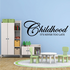 Childhood its never too late Decal