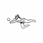 Volleyball Wall Decal - Vinyl Decal - Car Decal - DC 003