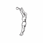 Volleyball Wall Decal - Vinyl Decal - Car Decal - DC 004