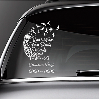 In Loving Memory Of Cute Dove//Cross Vinyl Sticker Car Decal Special Remembering