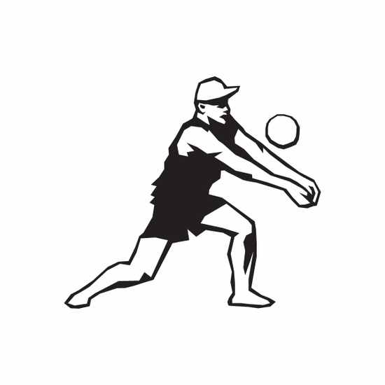 Volleyball Wall Decal - Vinyl Decal - Car Decal - DC 005
