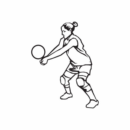 Volleyball Wall Decal - Vinyl Decal - Car Decal - DC 006