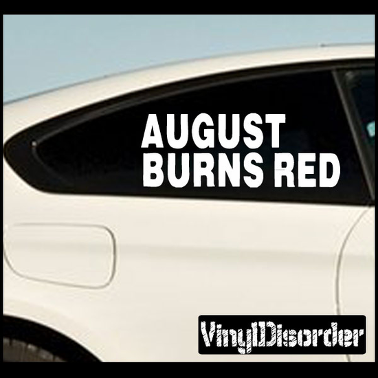 August Burns Red Band Decal