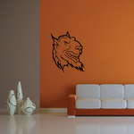 Smiling Devil Creature Head Decal