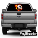 Sports Soccer Rear Window View Through Graphic Og002
