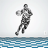 Basketball Wall Decal - Vinyl Decal - Car Decal - CDS003