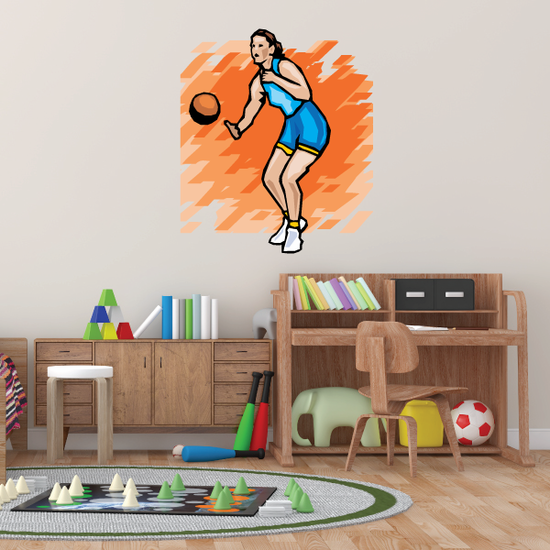 Volleyball Wall Decal - Vinyl Sticker - Car Sticker - Die Cut Sticker - SMcolor010