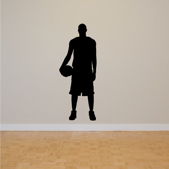 Basketball Player Standing Forward Decal