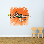 Volleyball Wall Decal - Vinyl Sticker - Car Sticker - Die Cut Sticker - SMcolor011