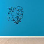 Werewolf Howling and Moon Decal