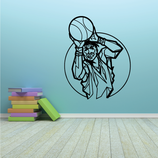 Basketball Detailed Player Ball Toss Decal