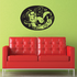 Various Animal Motif on Oval Decal