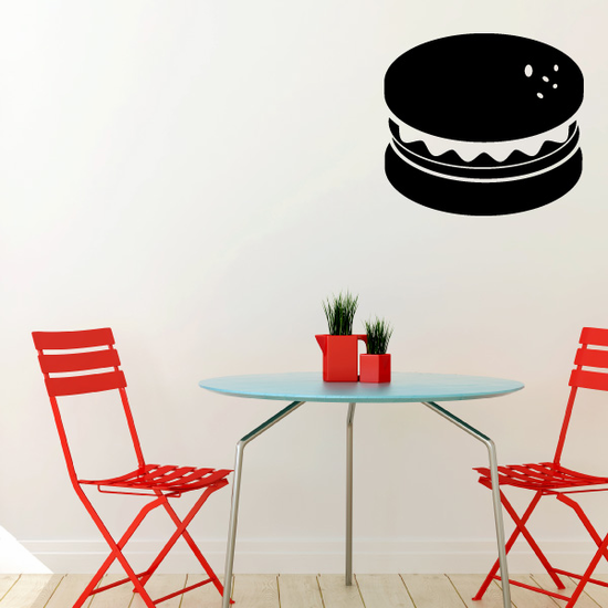 Hamburger Silhouette Decal