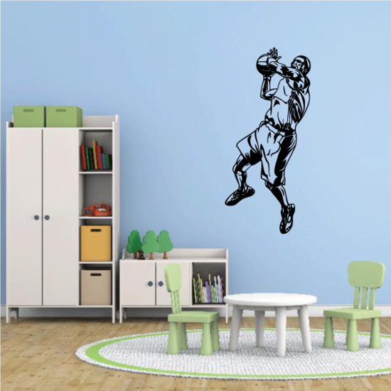Basketball Wall Decal - Vinyl Decal - Car Decal - CDS091