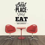 The Best Place To Eat Bon Appetit Decal