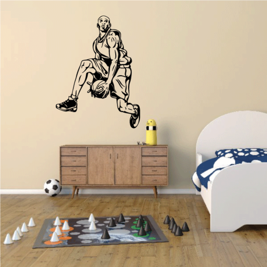 Basketball Wall Decal - Vinyl Decal - Car Decal - CDS089