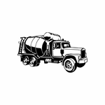 Detailed Cement Truck Decal