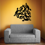 Interlocking Abstract Seal Design Decal
