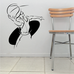 Basketball Player Ball Catch Action Decal