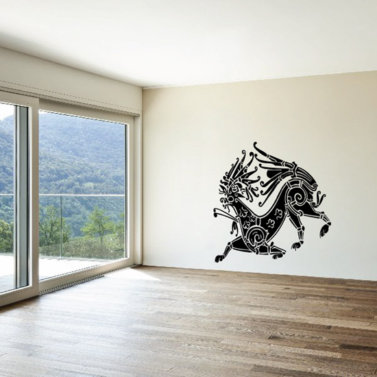 Abstract Greek Capricorn Decal