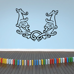 Decorative Horned Animal Decal