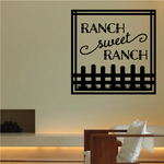 Ranch sweet Ranch Square Wall Decal