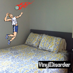 Volleyball Wall Decal - Vinyl Sticker - Car Sticker - Die Cut Sticker - CDSCOLOR017