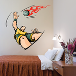 Volleyball Wall Decal - Vinyl Sticker - Car Sticker - Die Cut Sticker - CDSCOLOR018