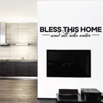 Bless This Home And All Who Enter Welcome Wall Decal