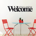 Family and Friends Welcome Wall Decal