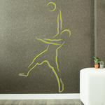 Volleyball Wall Decal - Vinyl Sticker - Car Sticker - Die Cut Sticker - CDSCOLOR025