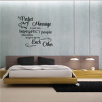 A Perfect Marriage is just two imperfect people who refuse to give up on each other Wall Decal