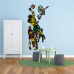 Basketball Wall Decal - Vinyl Sticker - Car Sticker - Die Cut Sticker - CDScolor115