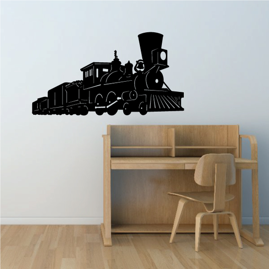 Old Fashined Steam Train Decal