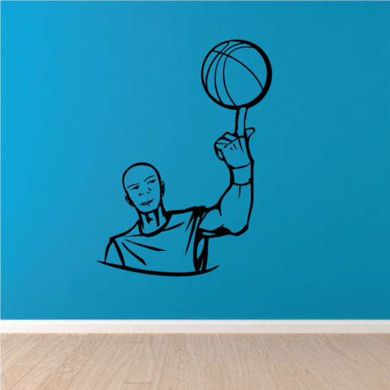 Basketball Wall Decal - Vinyl Decal - Car Decal - CDS018