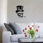 Top Hat Skull Wall Decal - Vinyl Decal - Car Decal - 033