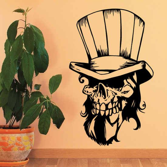 Skull Wall Decal - Vinyl Decal - Car Sticker - CD23024