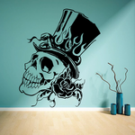 Skull Wall Decal - Vinyl Decal - Car Sticker - CD23025
