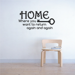 Home Where you Want to Return again and again Wall Decal