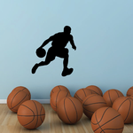 Driving To The Hole Basketball Wall Decal - Vinyl Decal - Car Decal - 003