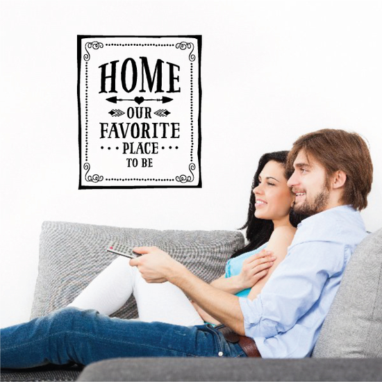 Home Our Favorite Place to Be Wall Decal