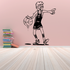 Basketball Player Cartoon Pointing Decal
