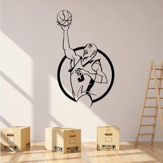 Basketball Ball Catch Circle Framing Player Decal