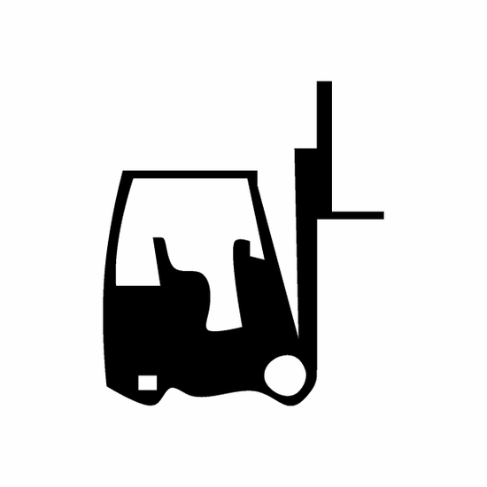 Graphic Lifting Forklift Decal