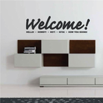Welcome Word Collage Decal