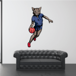 Basketball Wall Decal - Vinyl Sticker - Car Sticker - Die Cut Sticker - CDScolor156