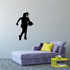 Dribbling Female Basketball Player Decal