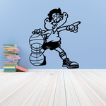 Basketball Pointing Player Dribbling Decal